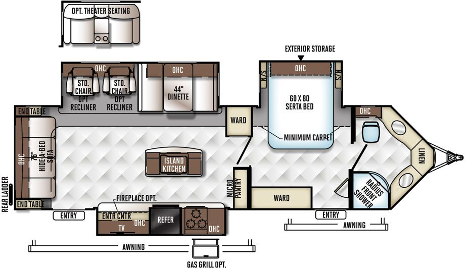 Rockwood Windjammer Travel Trailers by Forest River RV | Travel trailer  floor plans, Rv floor plans, Travel trailer | Wind Jammer Rv Wiring Diagram |  | Pinterest