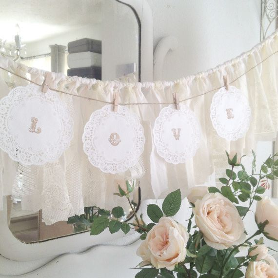 Diy Paper Doily Wedding Garland Rustic By Denadanielledesigns