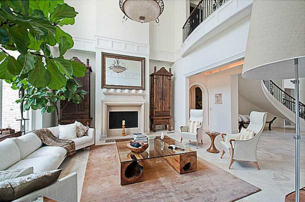 Inside Luxury Mansions inside usher's home in georgia: stunning luxurious white mansion