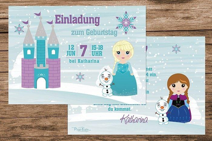 Einladungen Frozen Party