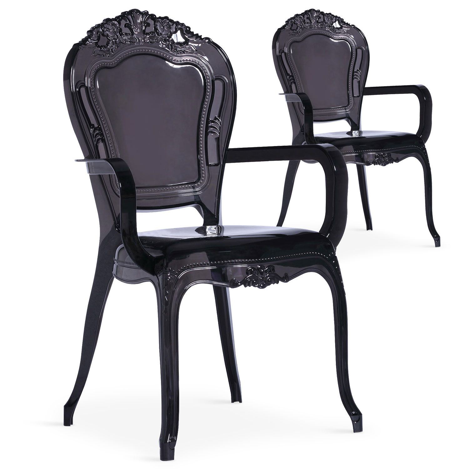 Lot De 2 Chaises Royales Cosy Crown Plexi Noir En 2020 Chaise