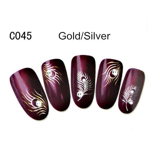 $1.09 Nail Art Water Decals Transfers Sticker Amazing Flower Birds Pattern #KH004A - BornPrettyStore.com