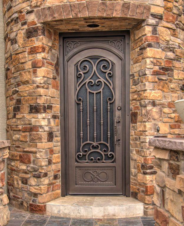 Verona Iron Entry Door By First Impression Security Doors Puertas Metalicas Exterior Puertas De Entrada De Metal Puertas De Hierro