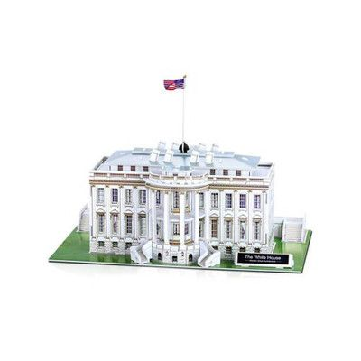 Swell Build Your Own White House 3D Cardboard Puzzle From Green Download Free Architecture Designs Rallybritishbridgeorg