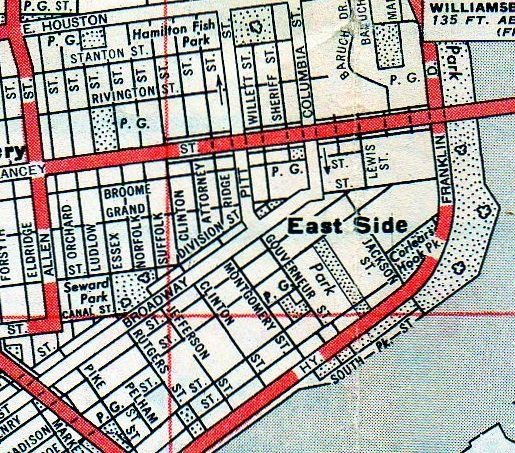Lower East Side (1910) | Lower east side, Map of new york ...