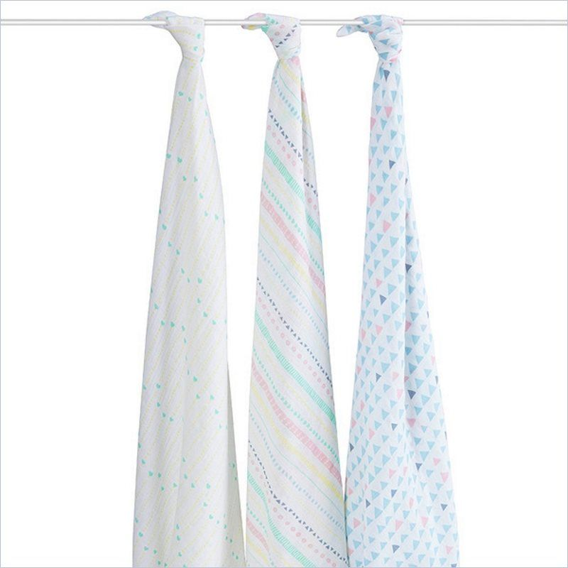 The Honest Company Aden + Anais Organic Swaddles in Pastel Tribal (Set of 3)