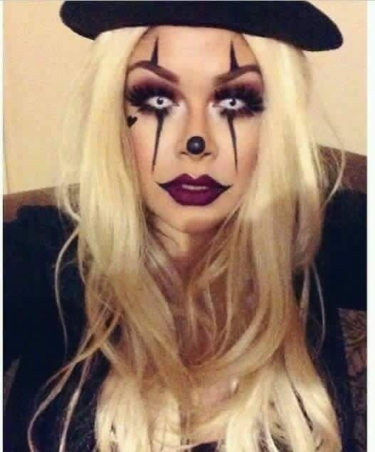 Einfache und kreative Halloween-Make-up-Ideen für Frauen - Pennywise #make-upideen