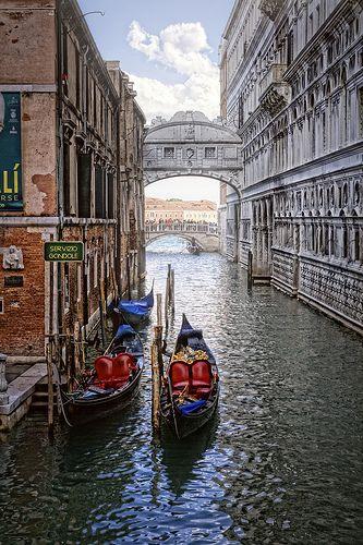 Servizio Gondole Puente De Los Suspiros Venecia Italia
