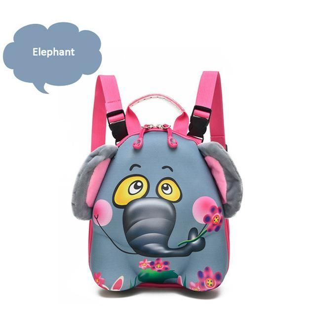 9f921f4ce950 Zoo Animals Shaped Baby Bag Kid Backpack Kindergarten School Bags ...