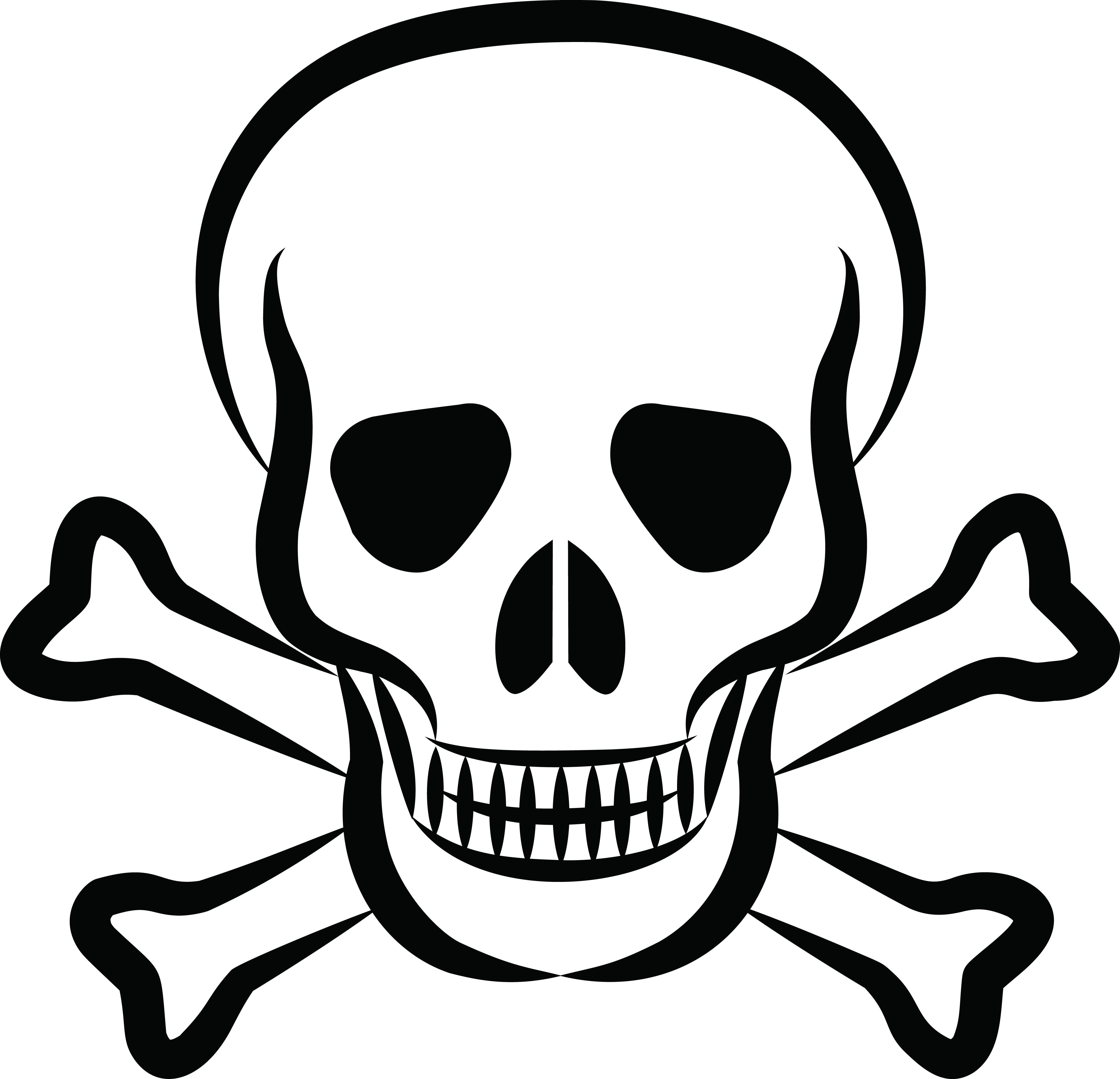 Free Clipart Of A skull and crossbones Skull coloring