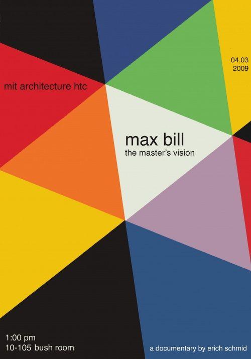 Max Bill Poster Color 2 4 Max Bill Graphic Design Typography Book Design