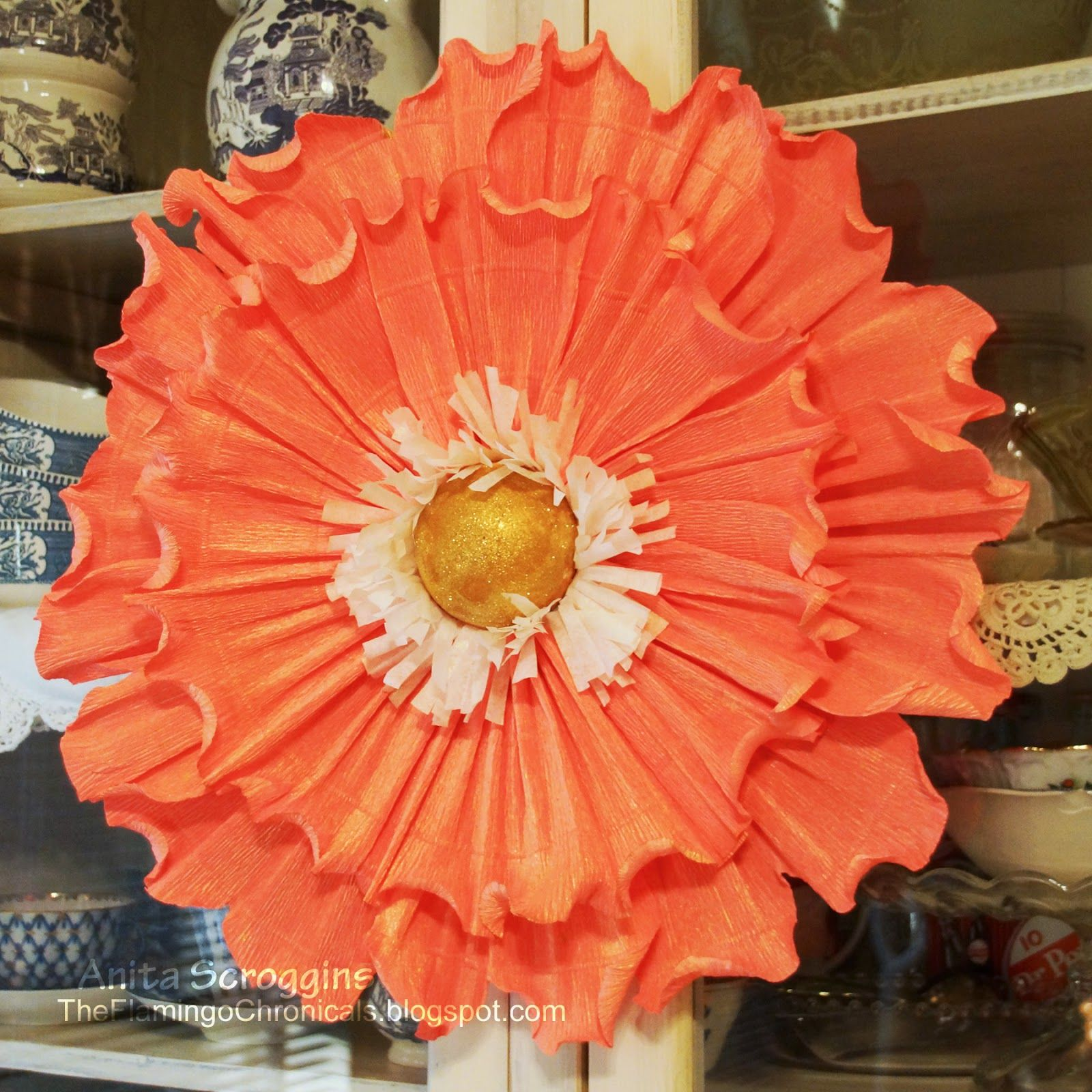 Large crepe paper flower craft flowers pinterest crepe paper large crepe paper flower mightylinksfo