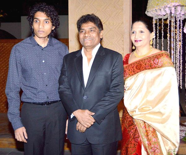 Image result for johnny lever with wife pic