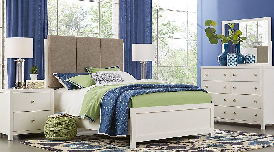 Barringer Place White 6 Pc King Upholstered Bedroom .999.99. Find Affordable  King Bedroom Sets