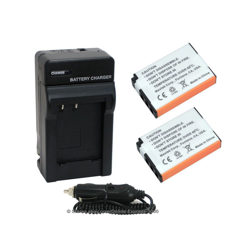$13.99 2 Battery + Charger Como Kit For Fuji Np48 Np 48