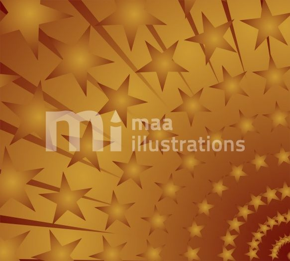 Illustration of a designed star in brown shade background