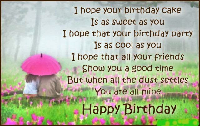 Happy Birthday Love Poems For Boyfriend
