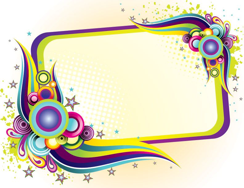 Ppt colorful frame design frames pinterest colorful frames template and scrap - Picture design samples ...