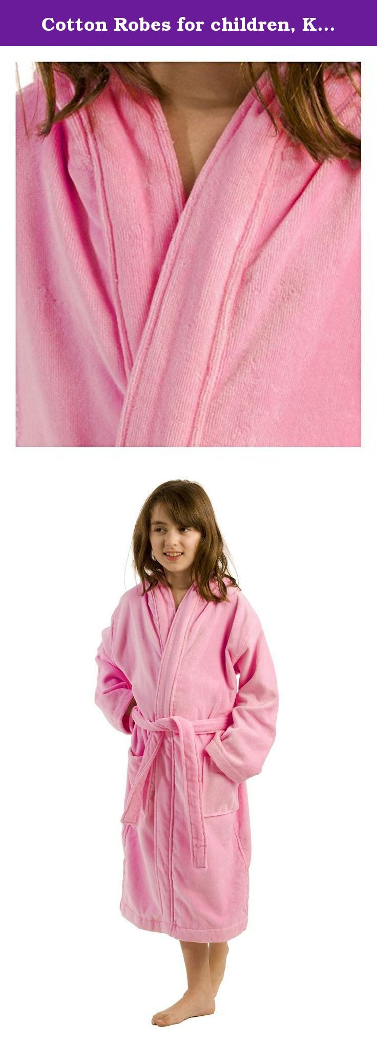 Cotton Robes for children, Kids Cover up shower towels for girls ...