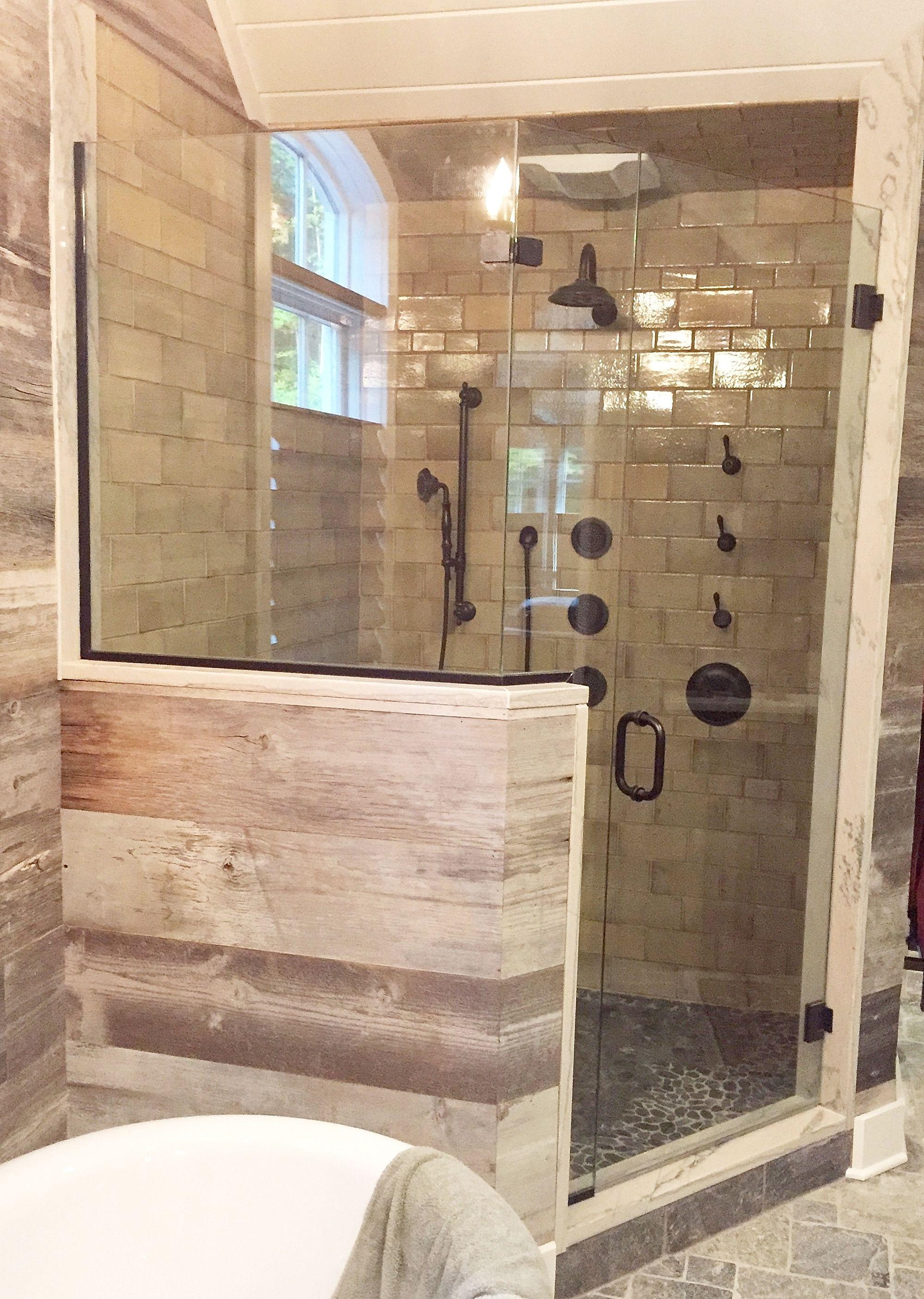 Frameless Shower Enclosure Door Panel Return Panel With Oil