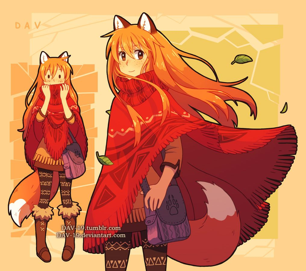 Fox girl Patricia my original character 3 Fox girl