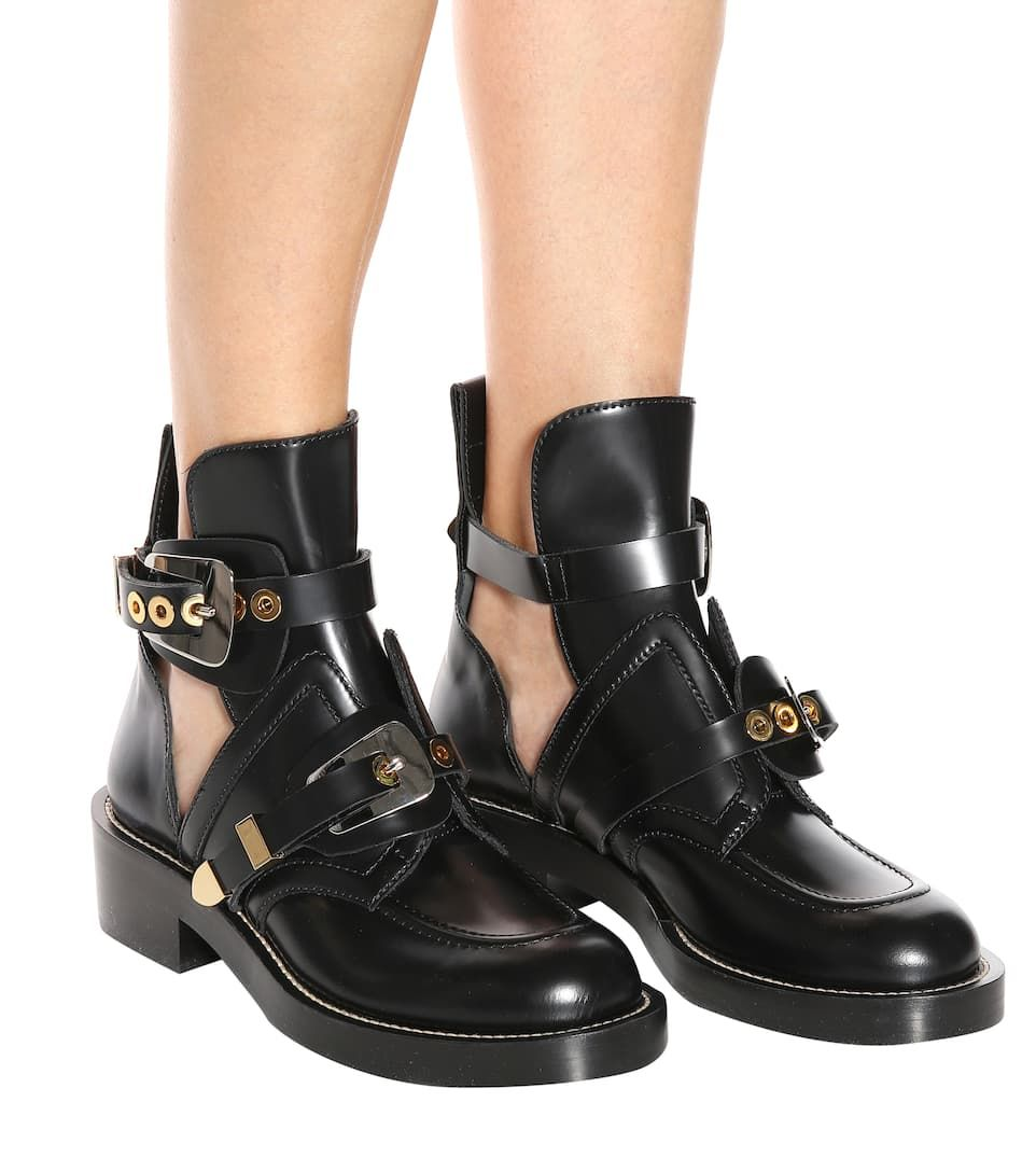 Ceinture Leather Derby Boots