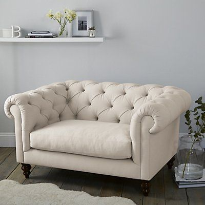 Hampstead Snuggler Linen Union Sofas Amp Armchairs Furniture Home The White Company Uk Love Seat Bedroom Seating Furniture