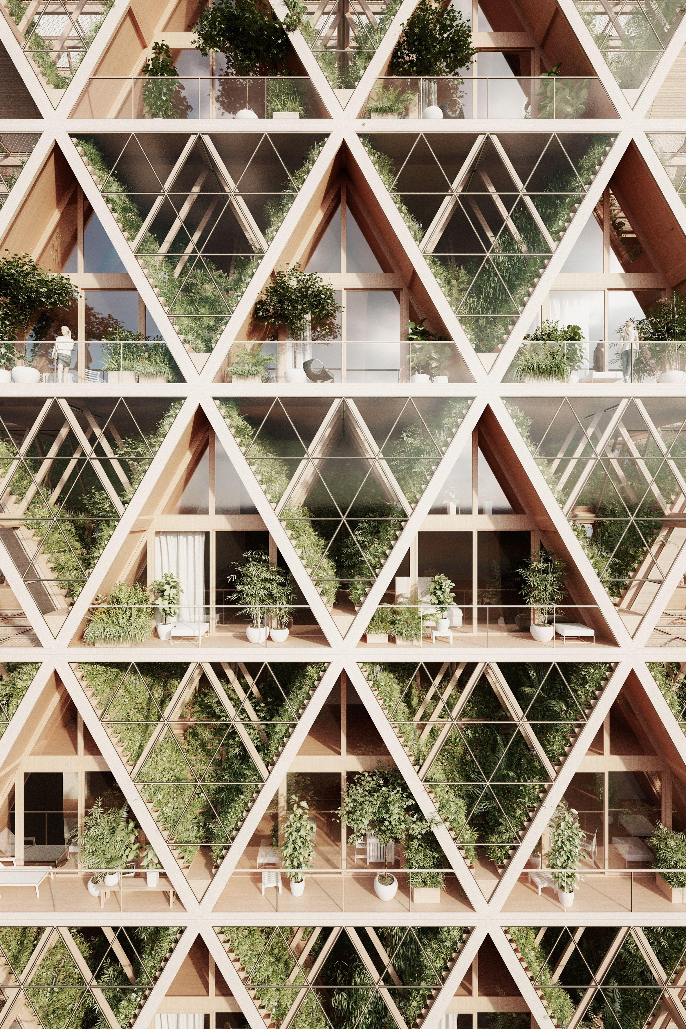 Precht S The Farmhouse Concept Combines Modular Homes With Vertical Farms Green Architecture Eco Architecture Sustainable Architecture