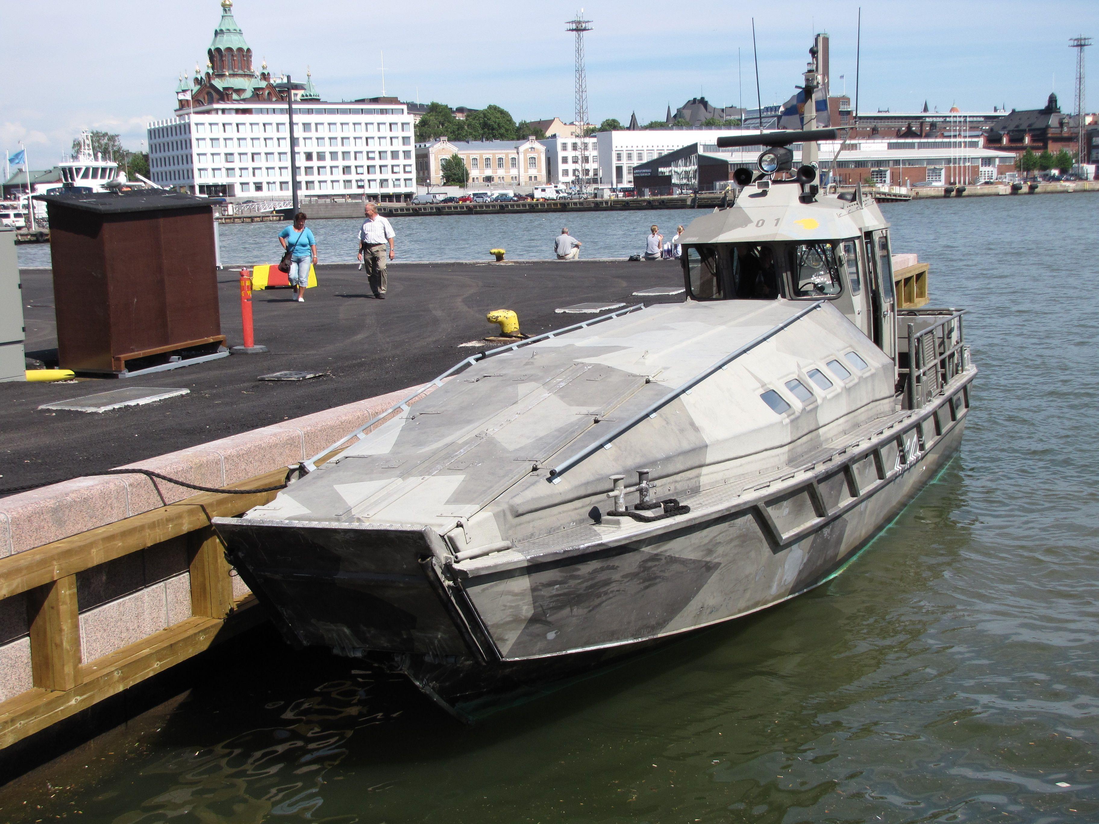 Jurmo landing craft fishing pontoon boats pinterest for Military landing craft for sale