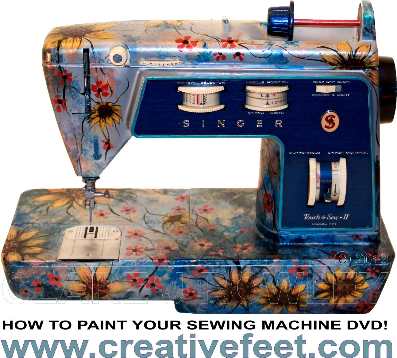 Creative Feet - How To Paint Your Sewing Machine DVD - Sewing ...