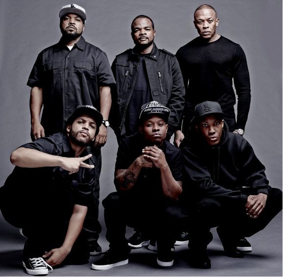 Straight Outta Compton Cast Ice Cube Dr Dre F Gary Gray Corey Hawkins And Jason Mitchell In Straight Outta Compton Movie Compton Movie Nwa Movie
