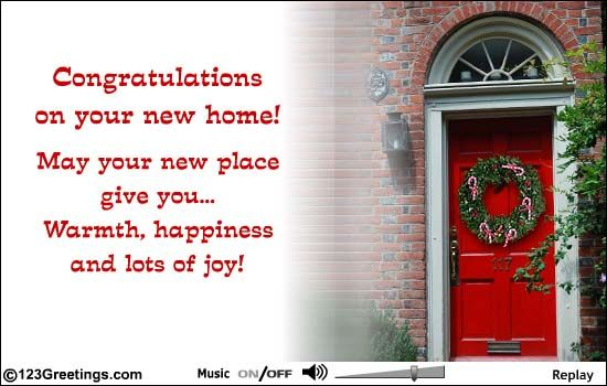 Congratulations On A New Home New Home Quotes Congratulations New Home New Home Cards