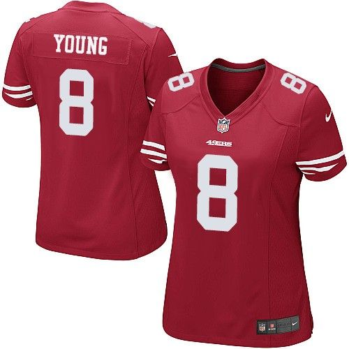 Nike Limited Steve Young Red Women's Jersey - San Francisco 49ers #8 NFL  Home
