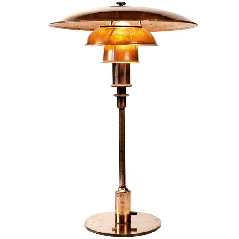 Rare 1926 1929 Ph3 2 Table Lamp By Poul Henningsen Poulsen 1stdibs Com Art Deco Lamps Modern Table Lamp Art Deco Table Lamps