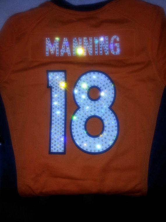 5d11da37d Womens Denver Broncos Swarovski Crystal Jersey by DivaliciousBling