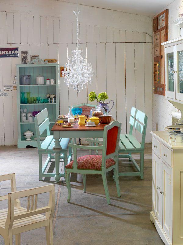 Comedor vintage, maravilloso! | cabañas | Pinterest | Comedores, De ...
