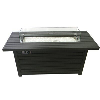 Sink Outdoor Aluminum Propane Fire Pit Table In 2020 Propane Fire Pit Table Fire Pit Table Propane Fire Pit