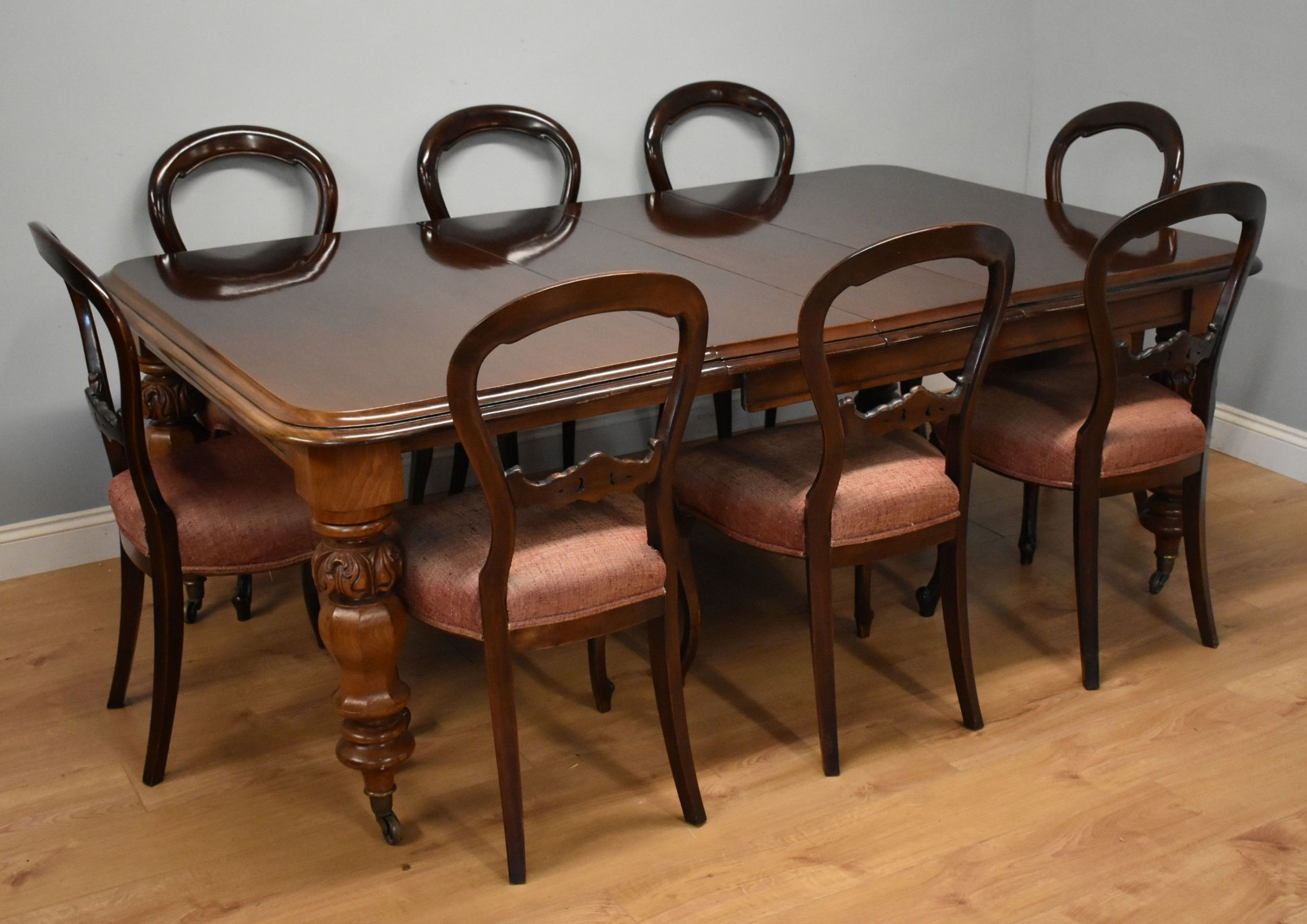 Victorian Mahogany Extending Dining Table 8 Victorian Dining