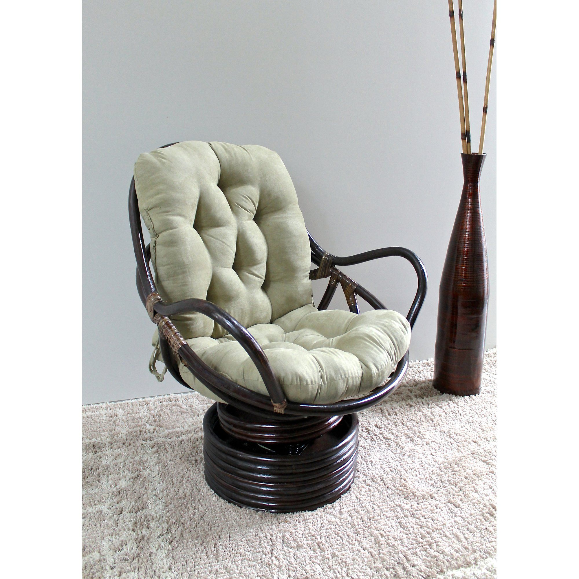 rattan swivel papasan chair desk chair for sitting crosslegged