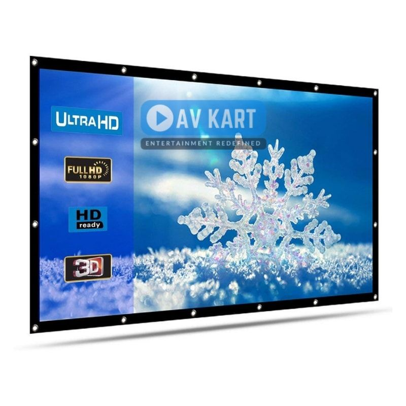 Eyelet Projection Screen 58 Inches Height X 92 Inches Width Diagonal 109 Inches Projection Screen Projector Screen Screen
