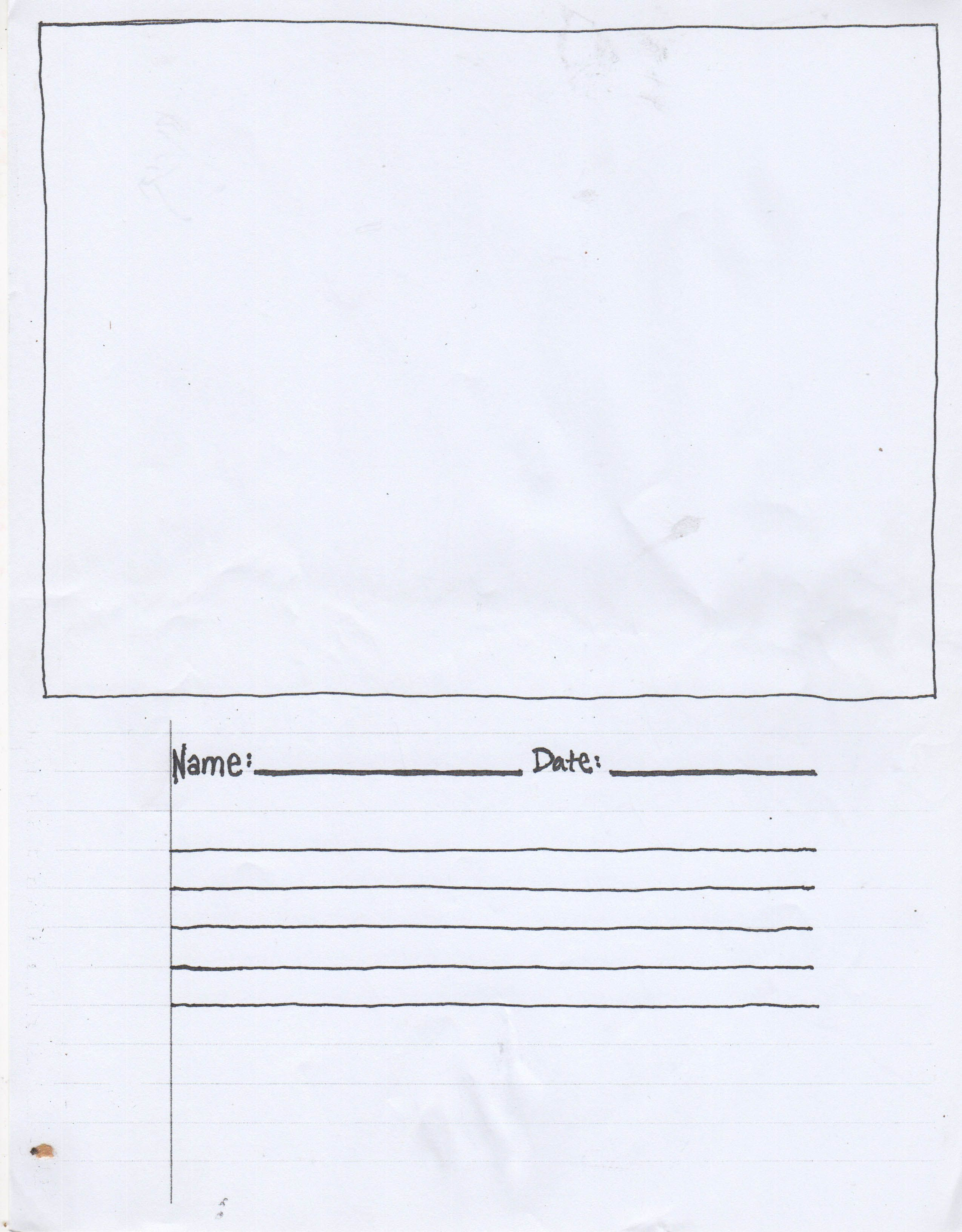 Story Board Worksheet For Making Projects K12