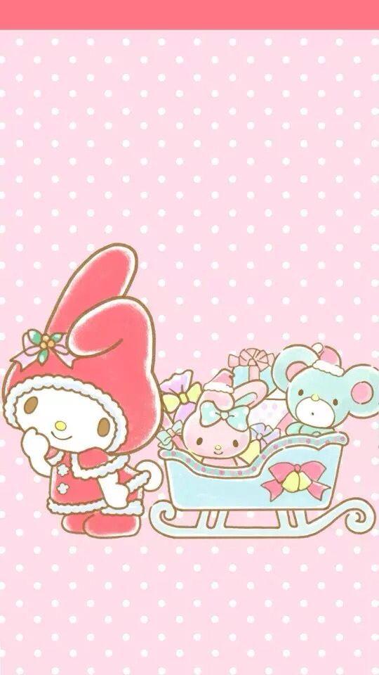 My Melody Wallpaper(画像あり) | クリスマスの壁紙, マイメロディ, かわいい 壁紙 iphone