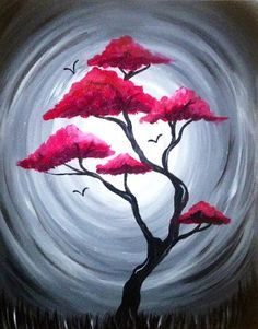 red tree of life originally created for paint nite by. Black Bedroom Furniture Sets. Home Design Ideas