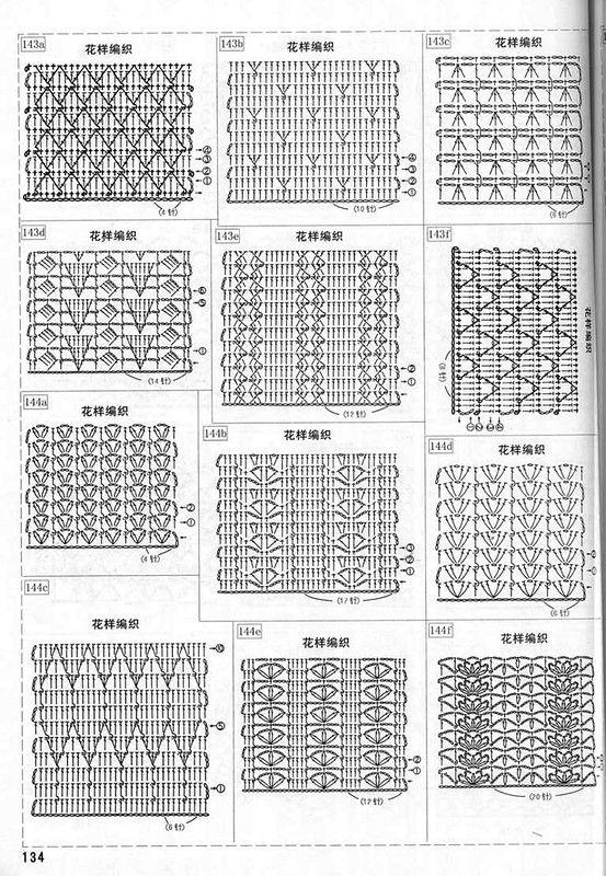 схемы вязания крючком края изделий