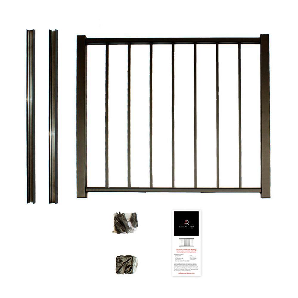 Bronze Powder Coated Aluminum Preembled Deck Gate Kit