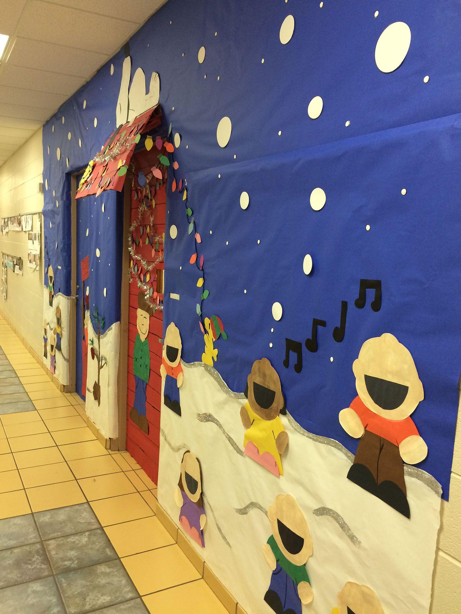 Charlie Brown Snoopy Charlie Brown Door Decoration