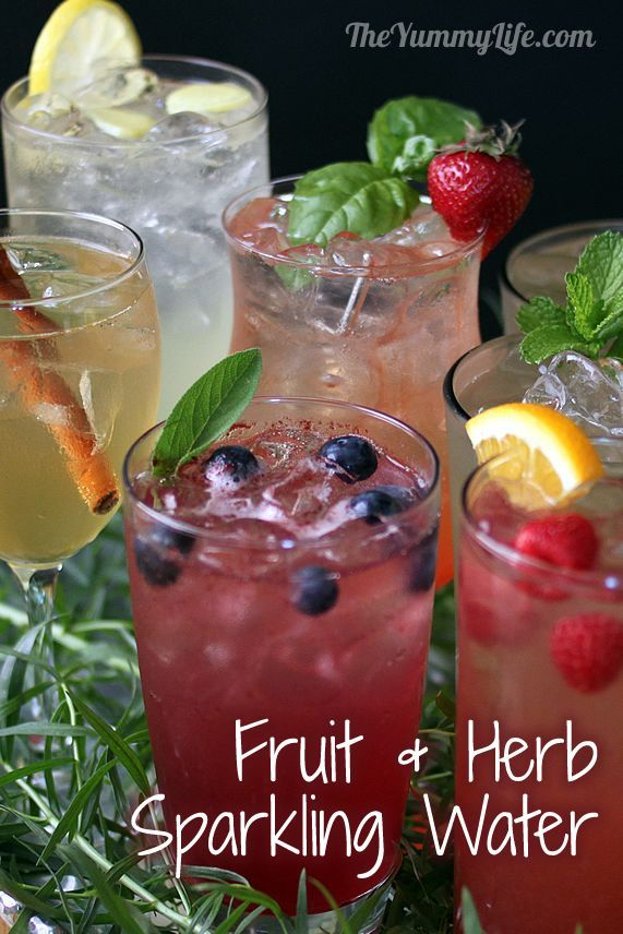 Fruit Amp Herb Flavored Sparkling Water Recipe Flavored