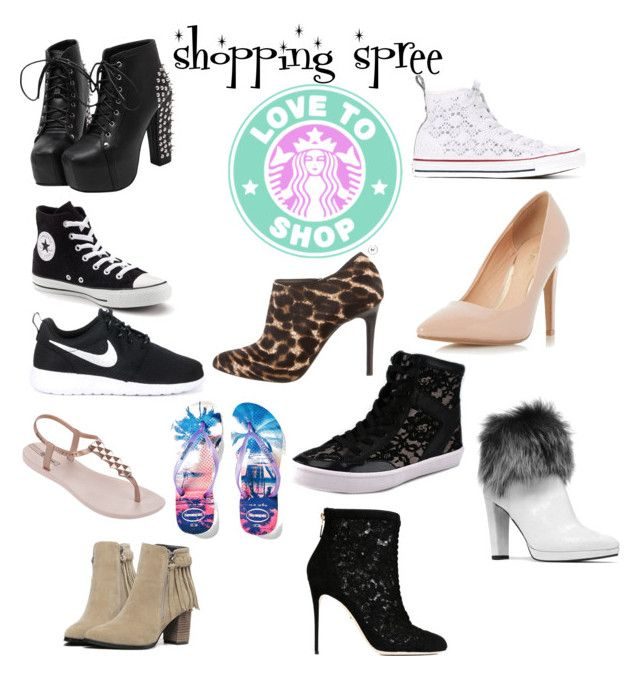 """""""shoe shopping"""" by maliah0811 ❤ liked on Polyvore featuring Converse, NIKE, Lanvin, Dorothy Perkins, Rebecca Minkoff, IPANEMA, Havaianas, Stuart Weitzman and Dolce&Gabbana"""