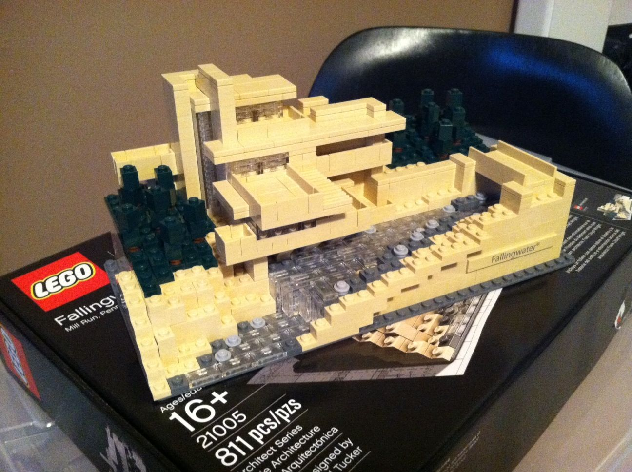 build dreams with the falling water frank lloyd wright house lego