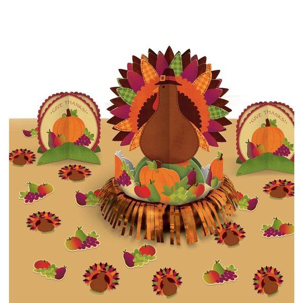 Check out Thanksgiving Turkey Table Decorating Kit (Each) - Reduced Party Decorations Decorations from Wholesale Party Supplies